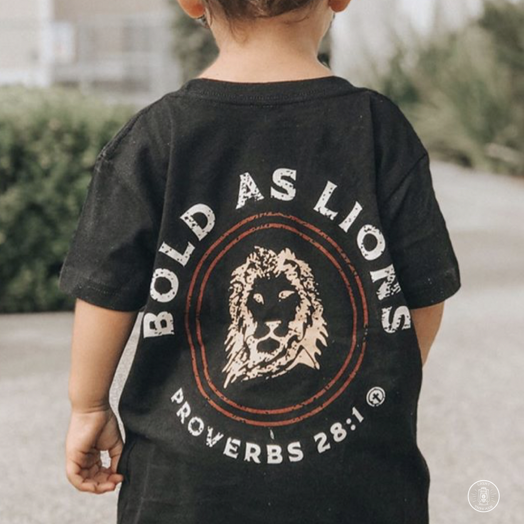 BOLD AS LIONS TODDLER TEE, BLACK