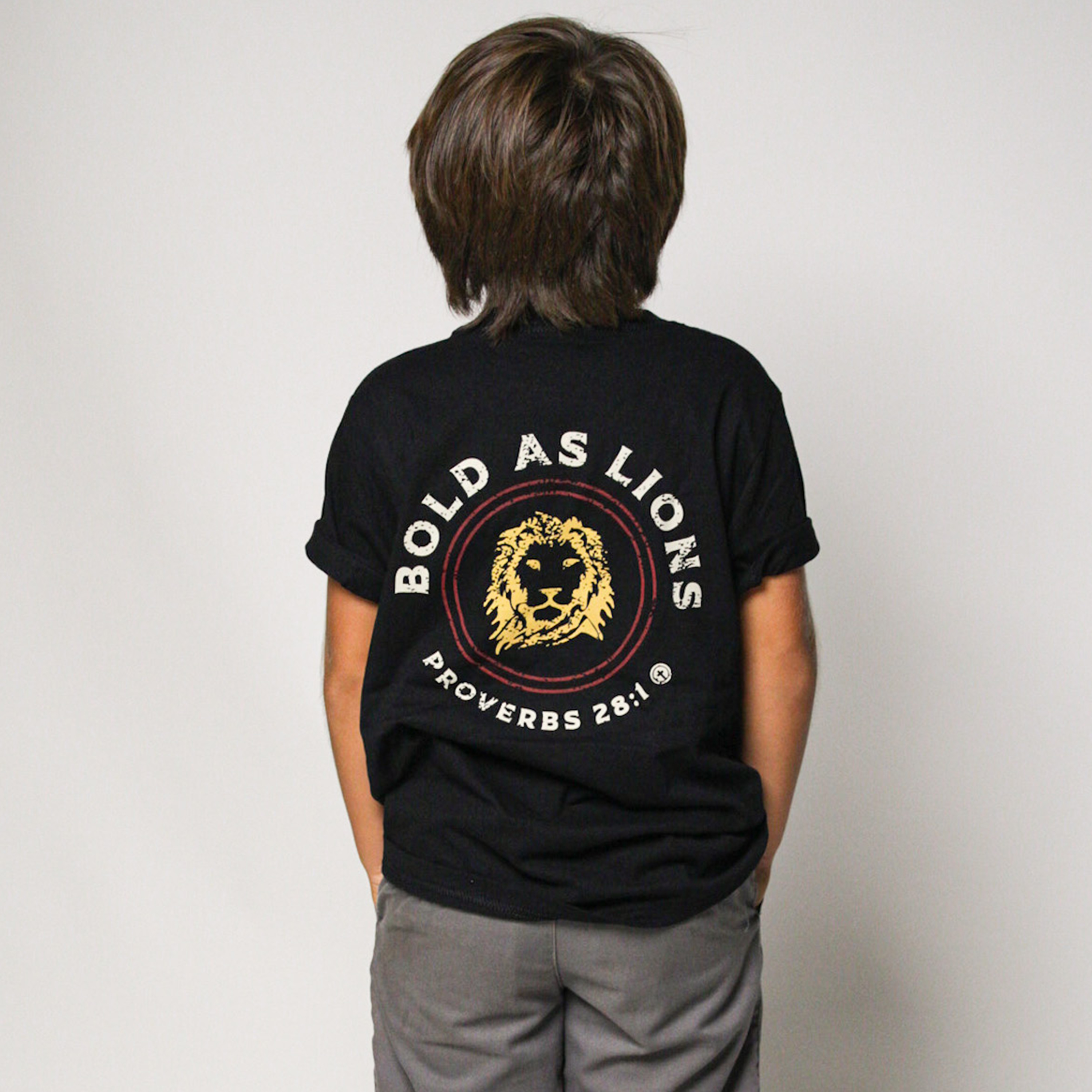 BOLD AS LIONS YOUTH TEE, BLACK