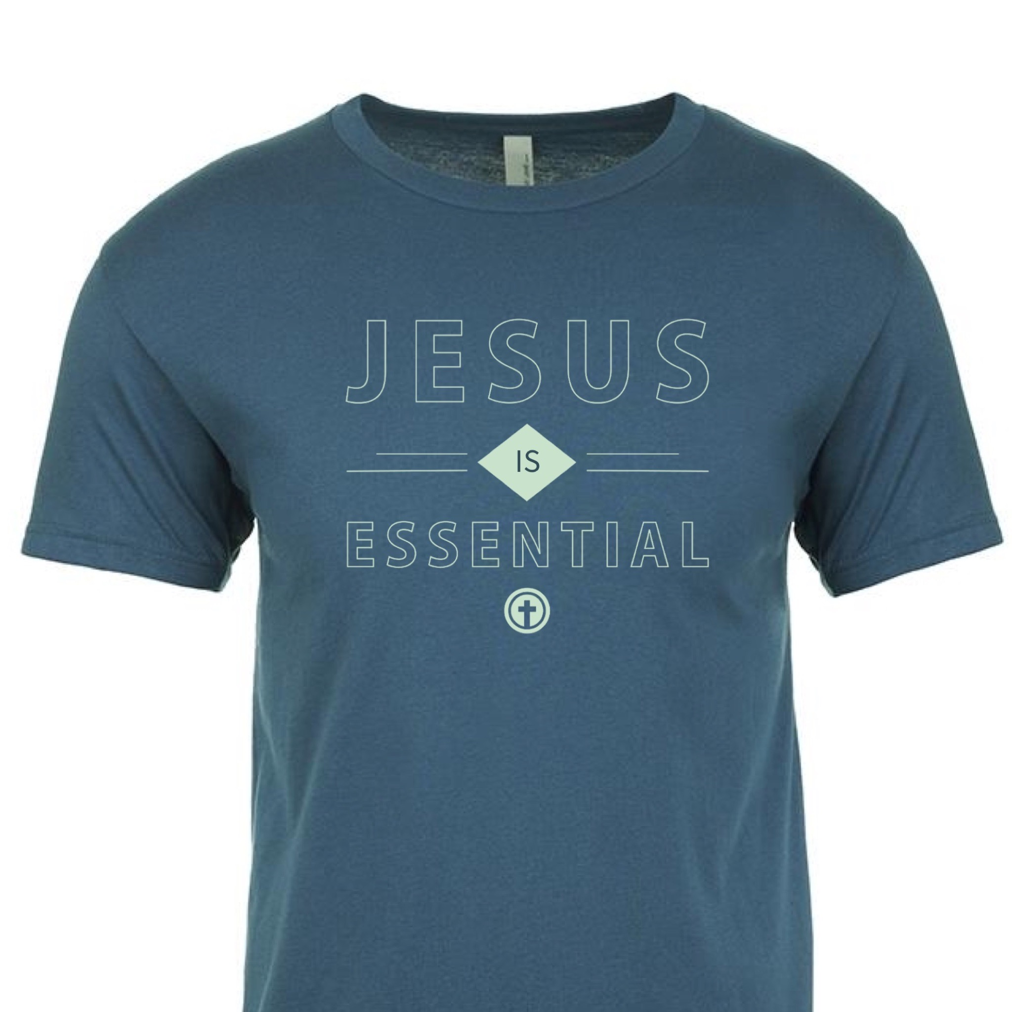 JESUS IS ESSENTIAL TEE, LIMITED EDITION BLUE