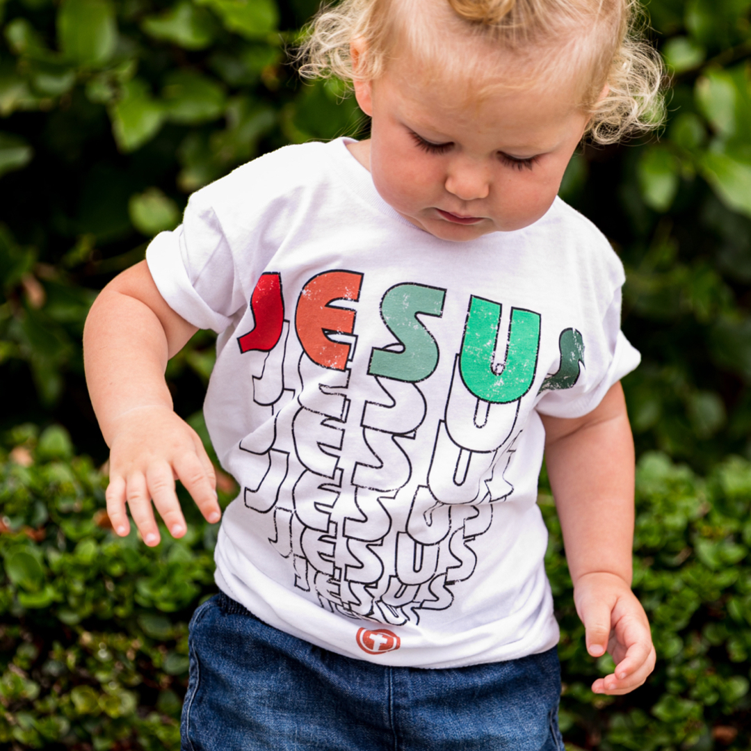 JESUS TODDLER TEE IN WHITE