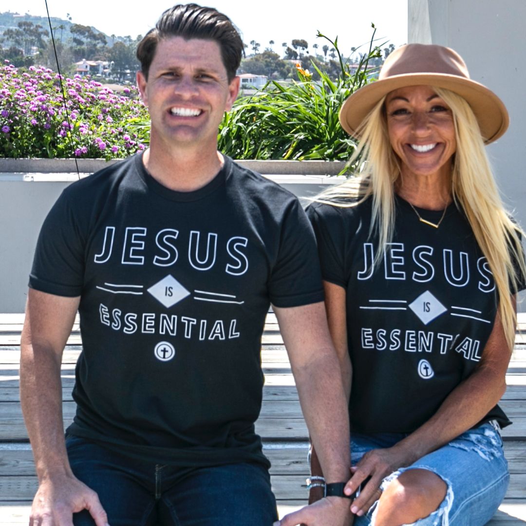 JESUS IS ESSENTIAL BLACK TEE