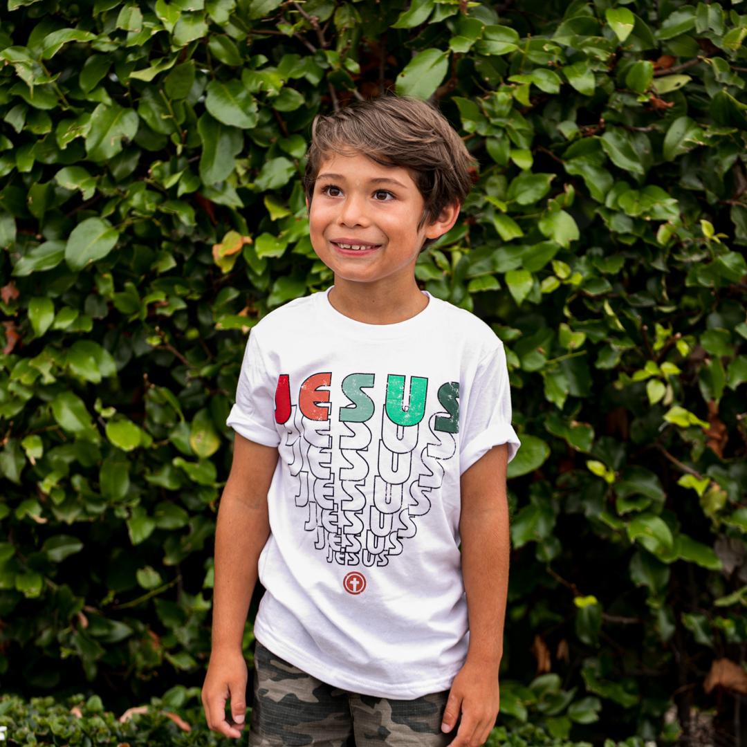 JESUS YOUTH TEE IN WHITE