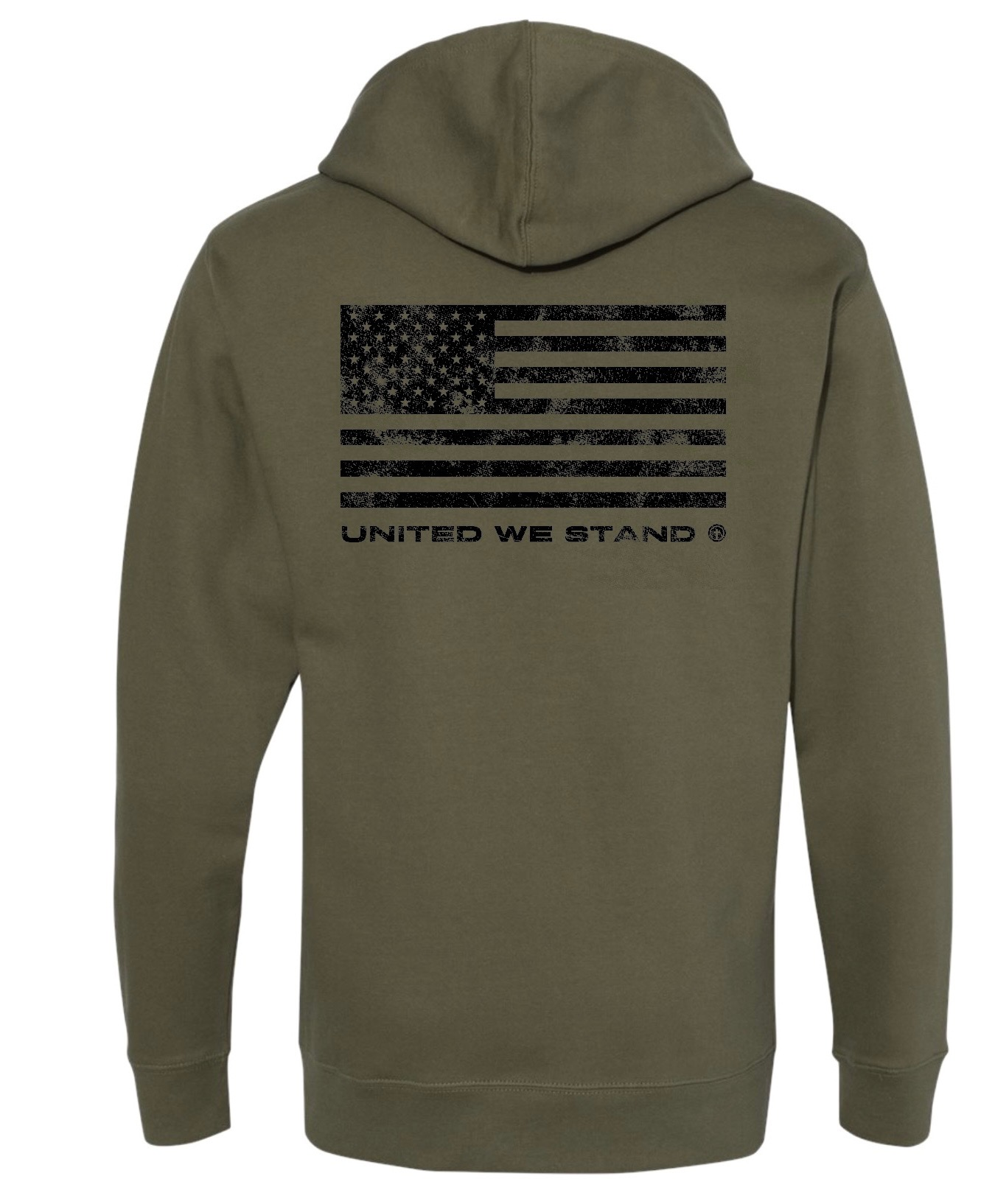IN GOD WE TRUST GREEN HOODED SWEATSHIRT