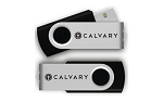Through the Bible: Calvary Reusable 16GB Flash Drive